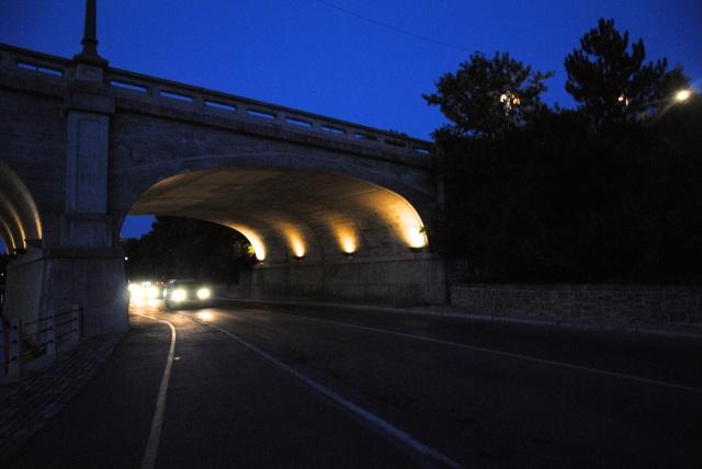 cars under the night bridge - CommStorm
